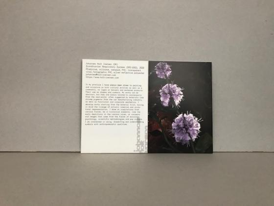 cards & booklets fine arts 'graduation show 2020'