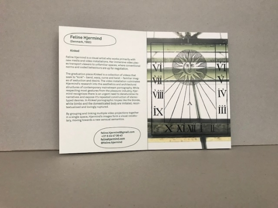 cards & booklets vav 'graduation show 2020'